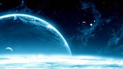 Space Planets Open Stars Galaxy Widescreen Shine