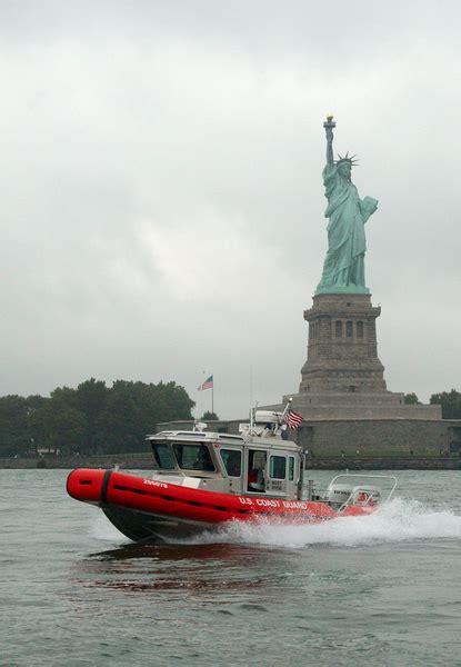 U Boat In Ny Harbor by A U S Coast Guard Boat Patrols The In New York Harbor By