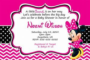 How to Make Minnie Mouse Baby Shower Invitations Templates ...