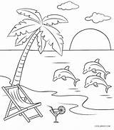 Coloring Beach Pages Printable Cool2bkids Scene Whitesbelfast sketch template