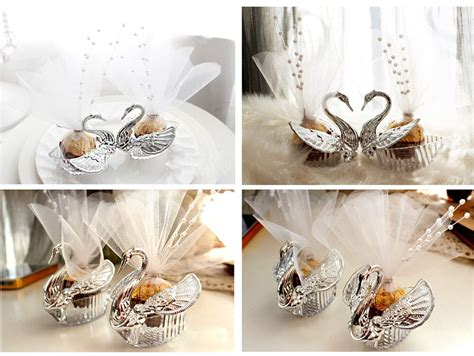 european romantic swan wedding favor gift box candy boxes