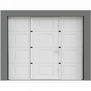 porte de garage avec portillon a casssettes porte With porte de garage avec portillon integre