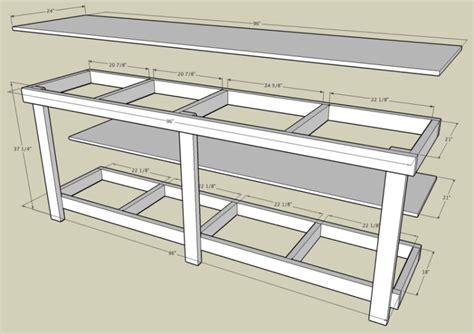 garage workbench plans garage workbench