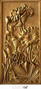 Decorative carved wood panels cnc route cuted