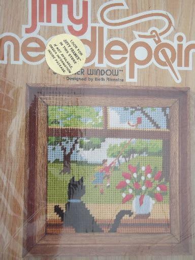 complete set   seasons jiffy needlepoint kits
