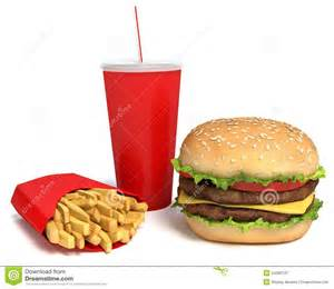 Hamburger with Fries and Drink