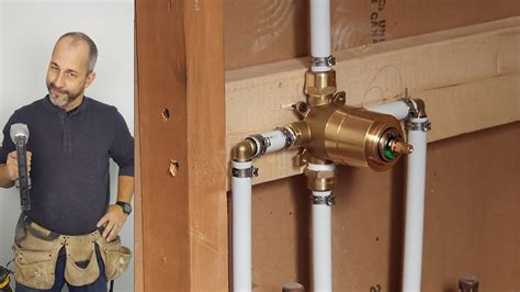 install kitchen faucet diy how to install copper to pex shower and bath plumbing