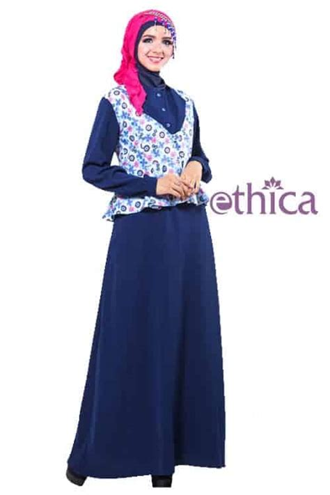 Baju Dress Wanita Ayumi Terbaru contoh baju muslim pesta terbaru ethica collection