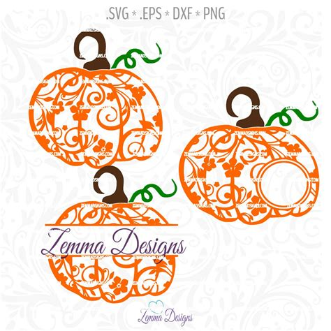 This post may contain affiliate links that won't change your price but will share some commission. thanksgiving svg - Pumpkin svg - Flourish pumpkin - svg ...