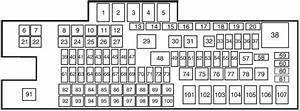 Ford F-250  2011 - 2016  - Fuse Box Diagram
