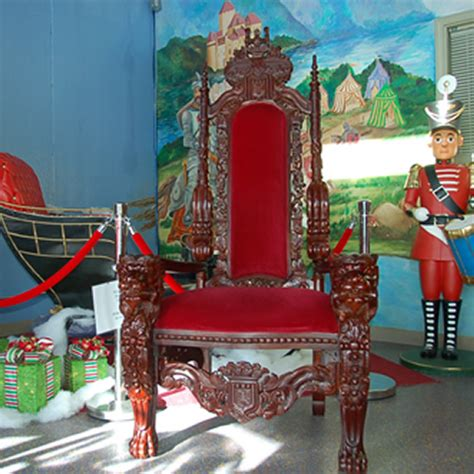 rent carved wooden santa throne in chicago il