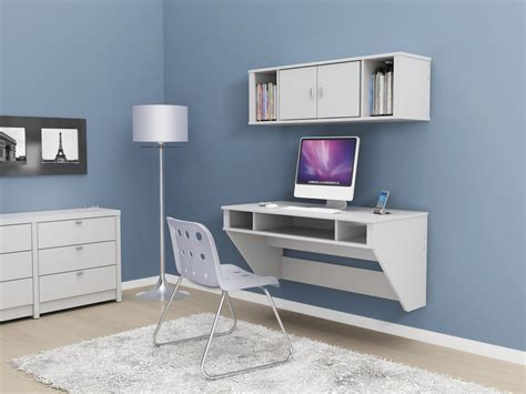 u shaped computer desk with hutch wall mounted desk with storage and hutches on blue