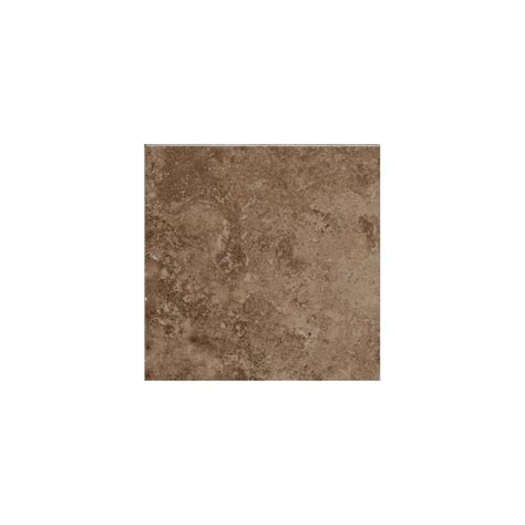 shop american olean pozzalo weathered noce ceramic quarter tile common 1 in x 1 in