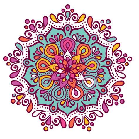 Mandala Images Mandala Colorido Con Formas Florales Descargar Vectores