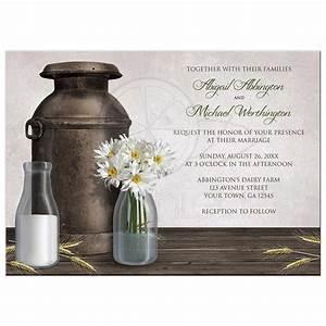 wedding invitations rustic country dairy farm With country house wedding invitations