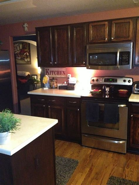 Ee  Kitchen Ee   Cabinets With Gel Stain Home Decor Pinterest