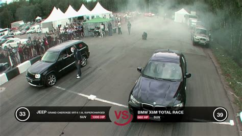 jeep douchebag jeep grand cherokee srt 8 supercharged vs bmw x6m stage 2