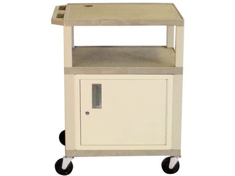 Colored Shelf Tuffy Cart With Cabinet And Electric 42