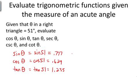 Basic Trigonometric Functions  Ck12 Foundation