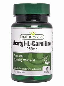 Nature U0026 39 S Aid Acetyl-l-carnitine  250mg - 30 Tablets