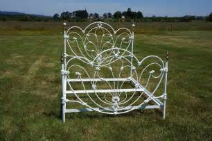 omg shabby cottage chic white wrought iron j b ross queen bed