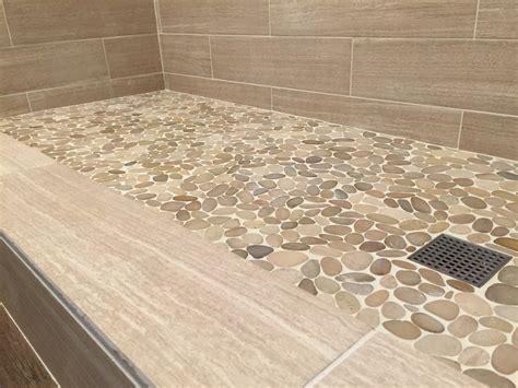 Sliced Java Tan Pebble Tile   Pebble Tile Shop