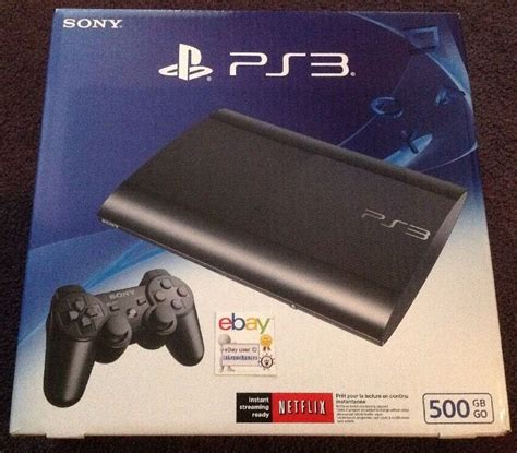 ps3 console ebay sony playstation 3 ps3 slim 500 gb charcoal black