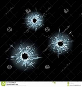 Bullet Holes In Glass Stock Vector - Image: 51776016