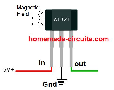 linear hall effect sensor working and application circuit homemade circuit projects
