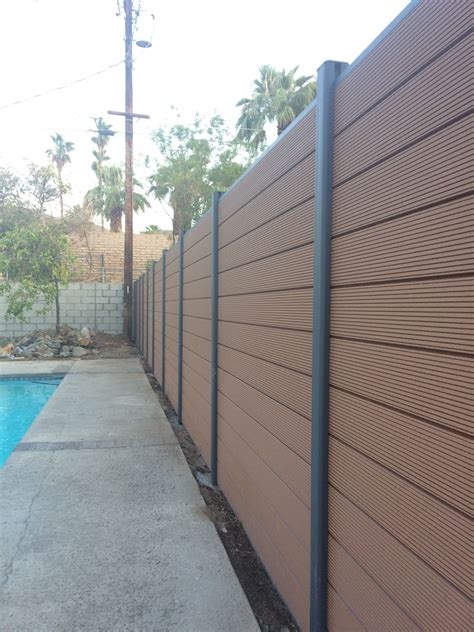 builddirect ep decking ep euro style  ft composite privacy fence kit modern fence