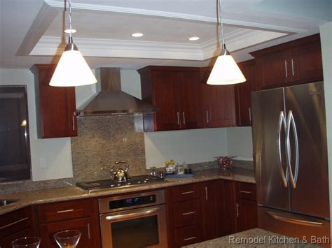 kitchen bath remodel recessed kitchen ceiling crown