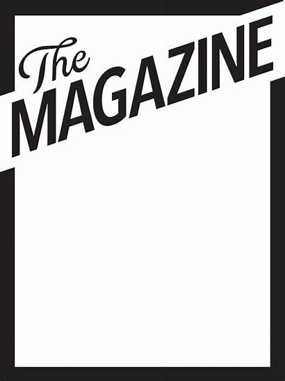 Magazine Blank Template Templates Overlay Feature Clipart