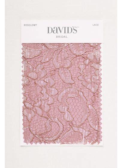 rose gold metallic fabric swatch davids bridal