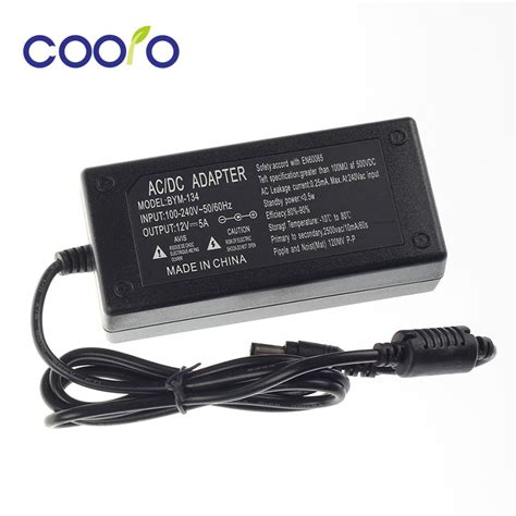 aliexpress buy 12v 5a ac dc power adapter for led 5050 3528 5630 3014 power supply