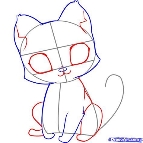 draw  easy kitten step  pets animals