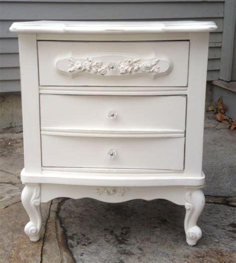 white shabby chic nightstand shabby chic white nightstand