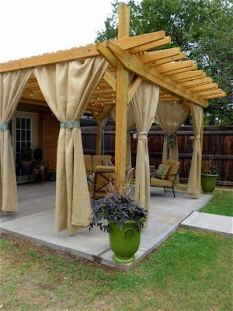 pergola deck curtains tutorial i want my back patio to