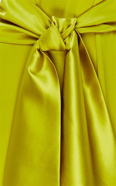 new jumpsuit silk cynthia rowley crepe back silk satin jumpsuit in yellow lyst