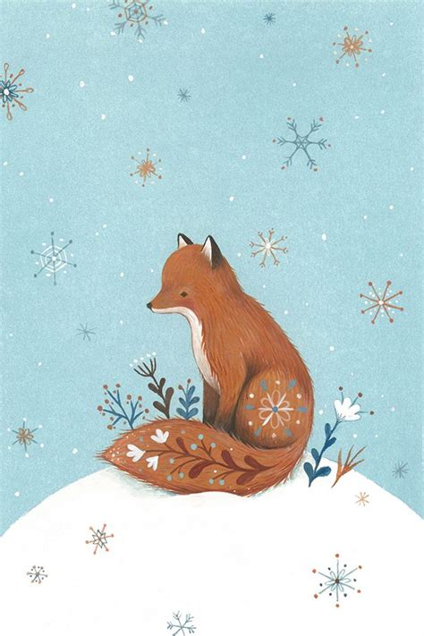 Fox Nina Stajner Art Weihnachten Illustration