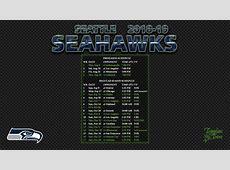 20182019 Seattle Seahawks Wallpaper Schedule