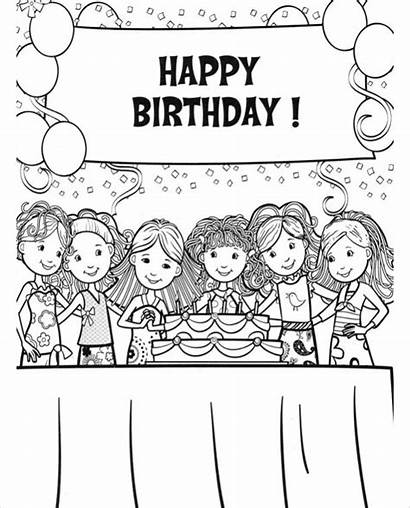 Coloring Birthday Happy Pages Pags
