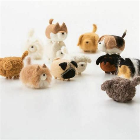 handmade felted felting project cute animal dogs puppy
