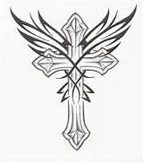 Cross Drawings Cliparts Cool Drawing Crosses Tattoo Designs Wings Sketch Coloring Tattoos Pages Tribal Looking Rose Different Gothic Favorites Favorite sketch template