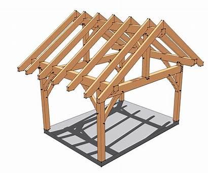 12x16 Timber Porch Frame Plans Roof Pergola