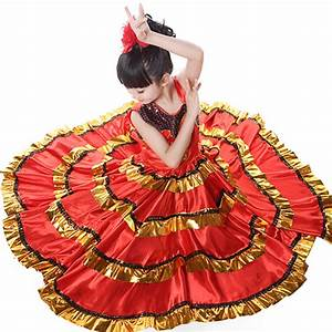 popular flamenco dance costumes buy cheap flamenco dance With robe enfant flamenco
