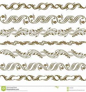 Vector gold ornament. stock vector. Image of border ...