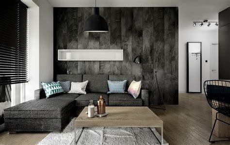 Modernes Wohnzimmer Mit Dunklem Sofa Einrichten 55 Ideen