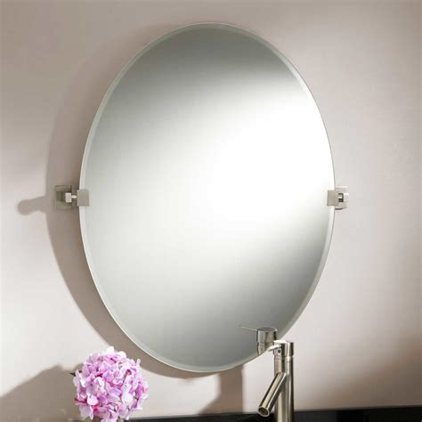 Tilting Bathroom Mirror by 31 Quot Helsinki Oval Tilting Mirror