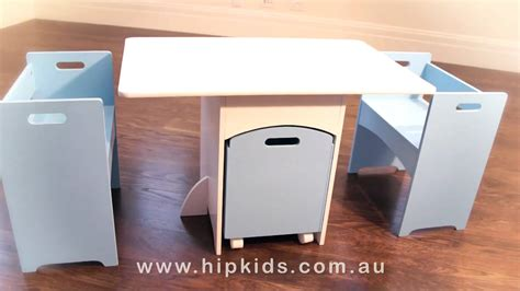 childrens table and chair set hip table and chairs set w storage box