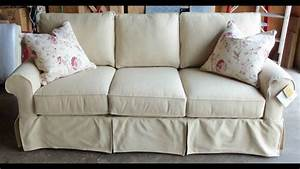 Sofa slipcovers with separate cushion covers vintage for Furniture slipcovers for sofas with cushions